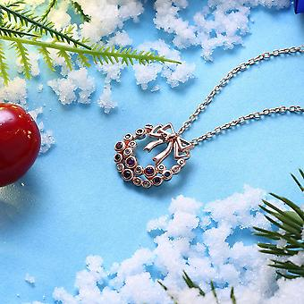 Missletoe Necklace In 18k Rose Gold Plated - Christmas Collection With