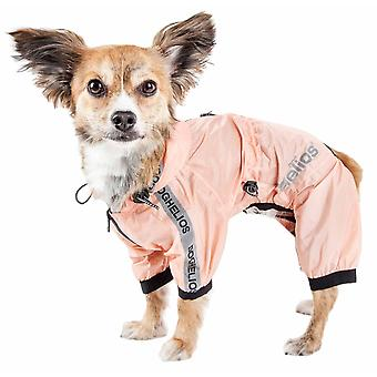 Dog Helios 'Scudo torrenziale' Impermeabile Multi-Regolabile Corposo Pet Dog Windbreaker Impermeabile, Pesca - Grande