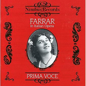 Geraldine Farrar - Farrar i italienska Opera [CD] USA import