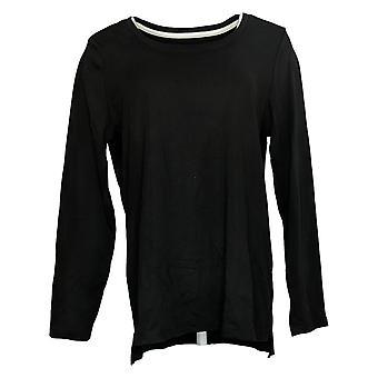 Isaac Mizrahi En direct! Essentiels pour femmes Pima Cotton Black A389762