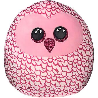 """TY Pinky Owl Squish-A-Boo 14"""""""