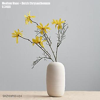 Nordic style ceramic decor vases with flower combinations