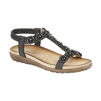 Cipriata Giovanna Ladies Ankle Strap Sandals Black