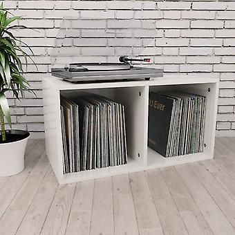 vidaXL boîte de rangement de disques blanc 71×34×36cm
