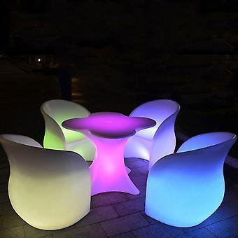 Nytt körsbärsblomma form uppladdningsbart led lysande cocktailbord