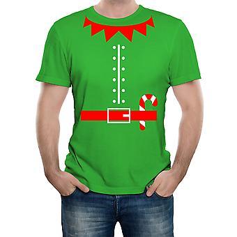 Reality glitch men's elf suit costume t-shirt