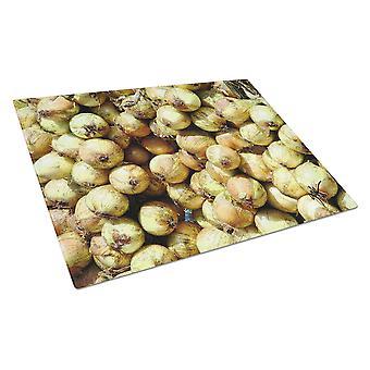 Carolines Treasures  GAK1020LCB Onions by Gary Kwiatek Glass Cutting Board Large