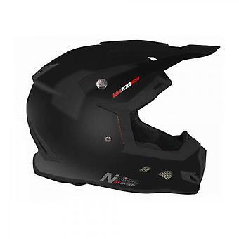 Nitro MX700 Uno Motocross Helmet Black Satin