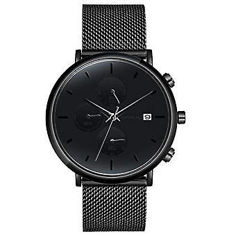 SUPBRO Minimalist Quartz Minimalist Men's Watches with Black Mesh Strap(2)