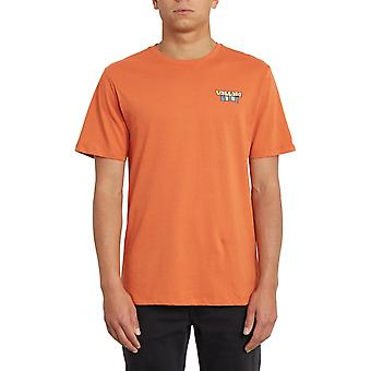 Volcom Daybreak Short Sleeve T-Shirt in Burnt Orange