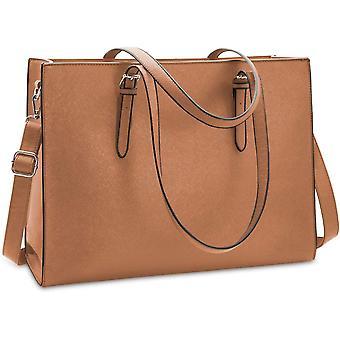 FengChun Laptoptaschen für Frauen 15,6 Zoll große Leder Einkaufstasche Damen Laptop Handtasche Computer