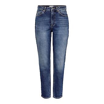 Only Womens Mom Jeans Trousers Bottoms Pants Straight Leg Casual Bottom