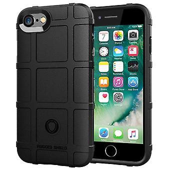 Tpu carbon fiber hoesje voor iphone 6 zwart mfkj-1799