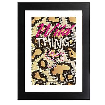 Sindy Wild Thing Leopard Pattern Framed Print