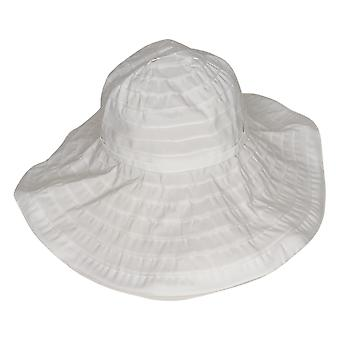 San Diego Hat Co. Wire Brim Ribbon Hat with UPF 50 White A376761