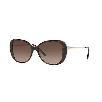 Tiffany TF4156 81343B Havana on Tiffany Blue/Brown Gradient Sunglasses