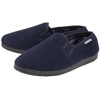 Dunlop - mens ainsley / martyn moccasin slippers