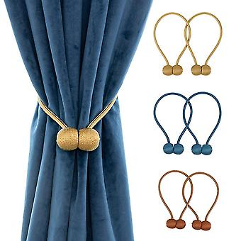 1 Pair of magnetic curtain clasp that allows curtains to close easily pearl magnetic ball curtain tie rope backs holdbacks buckle clips az21894