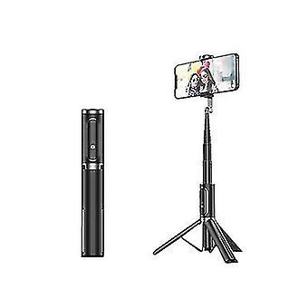 Sort bluetooth selfie stick stativ, bærbar trådløs selfie stick til æble az6677