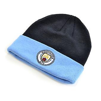 Man City Monroe Cuff Hat Navy Sky