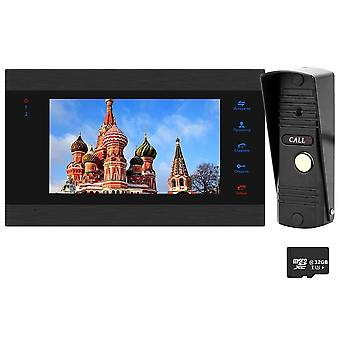 Homefong Video Door Phone Wired 7 Inch Video Intercom System