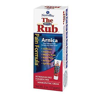 NatraBio Arnica Cream The Rub, 2 Oz