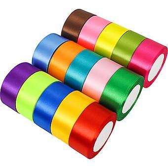 1cm 1.5cm 2cm 4cm Satin Ribbons DIY Artificial Silk Roses Crafts Supplies Sewing Accessories Scrapbooking Material