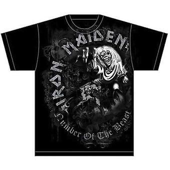 Iron Maiden - Number of the Beast Grey Tone Unisex XX-Large T-Shirt - Nero