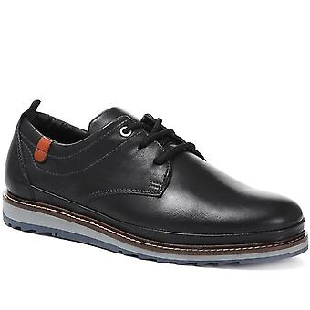 Jones Bootmaker Mens Casual Leather Lace-Up Trainer