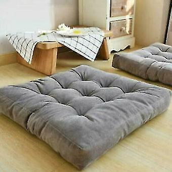 Soft Thick Sofa Chair Corduroy Cushions Seat Square Floor Garden Dining 55*55cm