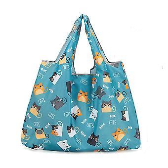 Miljøvenlig indkøbspose købmand taske foldbar bærbar stor kapacitet tote håndtaske