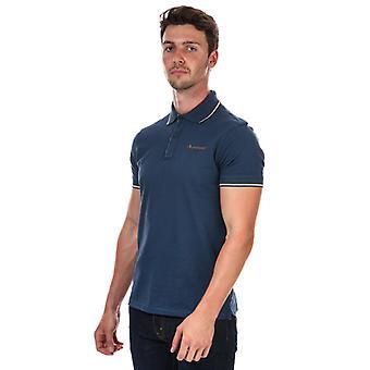 Men's Aquascutum Tipped Polo Shirt in Blue