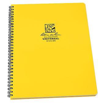 Rite In The Rain Universal Maxi Notebook, Side Spiral Bound 8.5 x 11 Inch