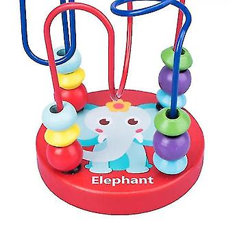 wooden Bead Maze For Baby,Early childhood educational toys,Elephant