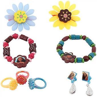 Vaiana 9 Piece Wood Jewelry Set