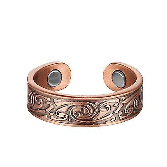 99.9% Copper Magnet Ring Collection Fashionable Simple Open Energy Ring Couple Style