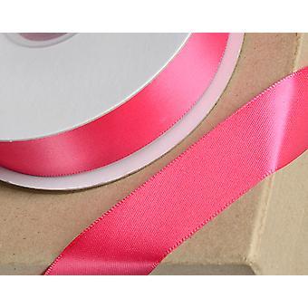 25m Fucsia rosa 10mm cinta de satén ancho para artesanías