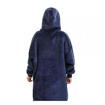 Hooded Blanket Pullover For Children(Navy Blue)