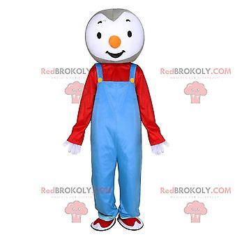 Mascote REDBROKOLY.COM de Tchoupi, famoso pinguim do desenho animado