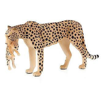 Wildlife & Woodland Female Cheetah with Cub Toy Figure