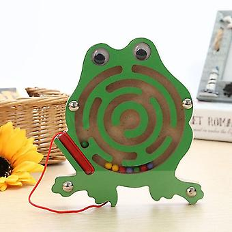 Magnetic maze toy kids children wooden puzzle game toy kids early educational brain teaser wooden toy intellectual jigsaw board