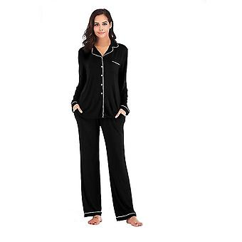 Womens Spring Autumn Winter Modal Long Sleeved Home Service Suit