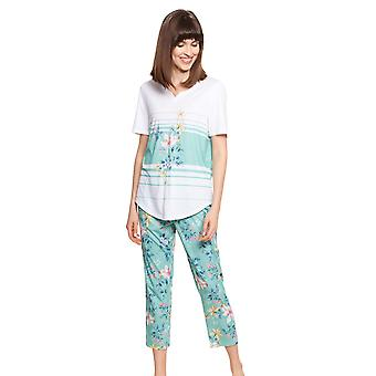 Rösch Ny Romanse 1213080-16501 Dame Sommerblomst Bomull Pyjamas Sett