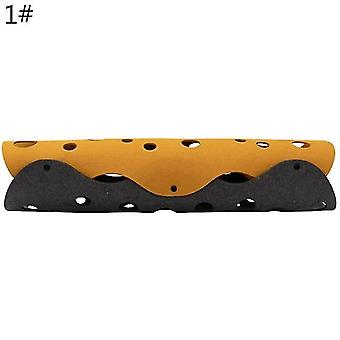 Cat toys cat play tunnel hiding toys kitten collapsible tunnel mat with multiple tracking holes yellow&gray