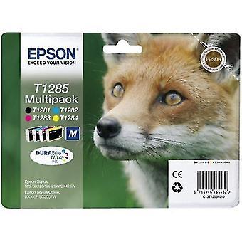 Toner inkjet cartridges c13t12854511 t1285 ink cartridge multi pack  225 pages  5 9 ml 3x3 5 ml  pack qty 4