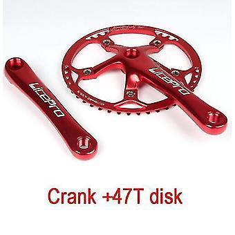 Polkupyörän kampitus integroitu yksi ketjupyörä kampi 45t 47t 53t 56t 58t bcd 130mm taitettavaan pyörään