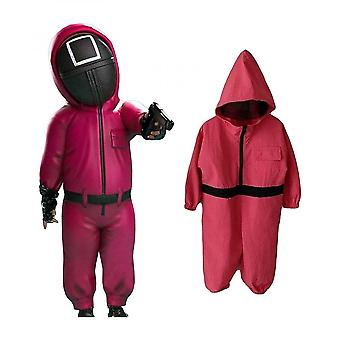 Squid Game Children's Section Jumpsuit Halloween Party Role-playing (one Jumpsuit)