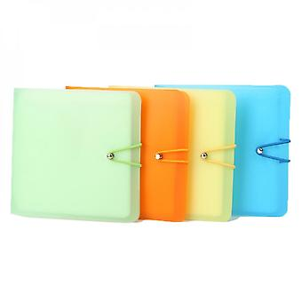 12 Sleeves Cd Dvd Disc Carry Wallet Candy Color Case Holder Storage Cover Bag