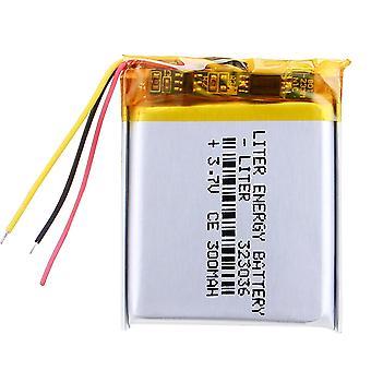 3 Line Mp3/mp4 / Mobile Phone Battery 323036 3.7v 300mah Lithium Polymer