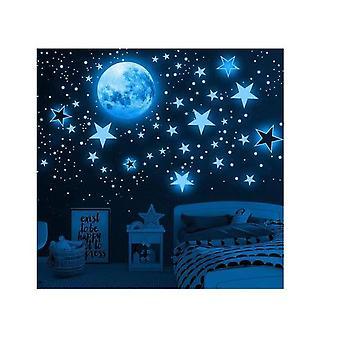 Hywell 1049 Piezas de pegatinas de pared Pegatinas de pared para niños Moon Stars Luminosas Pegatinas de pared luminosas Pegatinas de Beibei Pegatinas